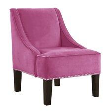 Bernstein Nail Button Swoop Arm Chair