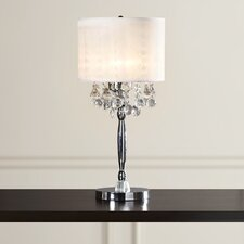 """Alcester Crystal 3 Light 30"""" Table Lamp with Drum Shade"""