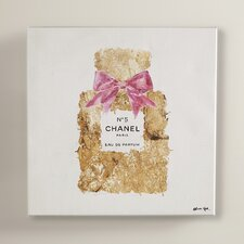 Pure Gold Dust Scent Painting Print on Wrapped Canvas
