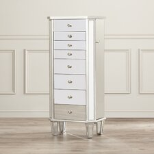 Rothwell Jewelry Armoire with Flip Top Mirror