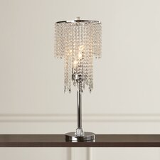 "Forville Crystal 31.5"" H Table Lamp with Drum Shade"