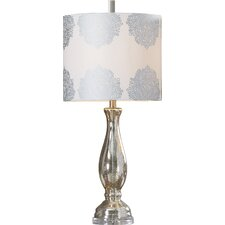 "Miles City 32"" H Table Lamp with Drum Shade"