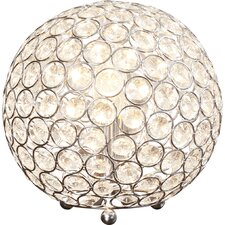 "Lamour Crystal Ball 8"" H Table Lamp with Sphere Shade"