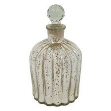 Decorative Mercury Glass Bottle