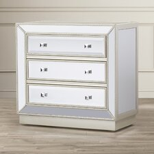 Miranda Mirrored 3 Drawer Chest