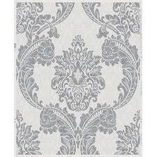 "Douglas Regent 33' x 20"" Damask Wallpaper"