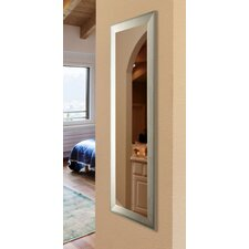 Poulton-le-Fylde Brushed Silver Tone Full Length Body Mirror
