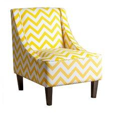 Faringdon Chevron Swoop Arm Chair
