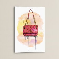 Chanel Bag on Original Painting Wrapped Canvas