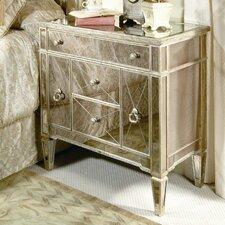 Sandbach Mirrored 5 Drawer Chairside Chest