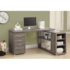 Charisse L-Shaped 3 Drawer Corner Desk