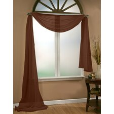 Aurora Sheer Window Scarf Polyester Curtain Valance