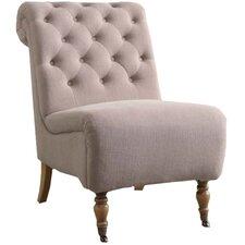 Cyclamen Roll Back Tufted Parson Chair
