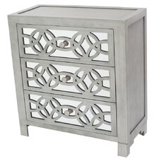 Bridgman 3 Drawer Mirror Chest