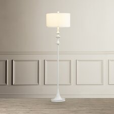 """Henley-in-Arden 60"""" Floor Lamp in white gloss"""