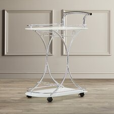 Serving Cart in Chrome
