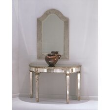 Sandbach Mirrored Console Table in Antique Silver