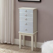 Castle Cary Jewelry Armoire with Mirror