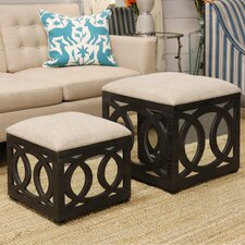 Yarm Mirrored Square Nesting Ottoman