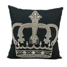 Hertzog Beaded Crown Cotton Throw Pillow