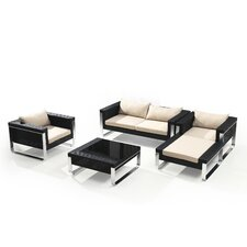Wilmont 5 Piece Deep Seating Group with Cushions