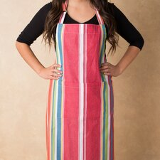 Sunset-Striped Chef Apron