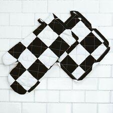 Checker Board Oven Mitt / Pot Holder