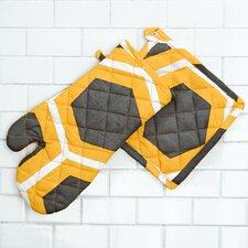 Honeycomb Oven Mitt / Pot Holder