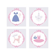 Princess 4 Piece Wall Art Set