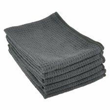 Microfiber Waffle Weave Stemware and Bar Towel, 6-Pack (Set of 6)