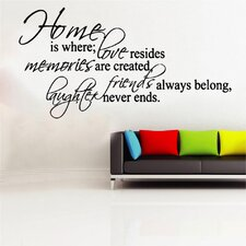 Home Is Where Decal Vinyl Wall Sticker