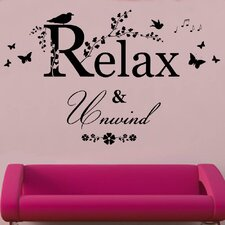Relax And Unwind Decal Vinyl Wall Sticker