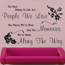 The Best Things In Life Decal Vinyl Wall Sticker