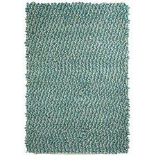 Handgewebter Teppich Jellybean inBlaugrün