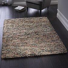 Handgewebter Teppich Jellybean in Beige und Grau