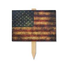 The Patriot Wile E Garden Stake