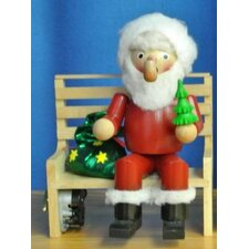 Steinbach Signed Santa Sitting on Bench Musical German Christmas Incense Smoker