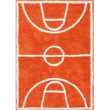 Handgefertigter Innenteppich Dunk in Orange