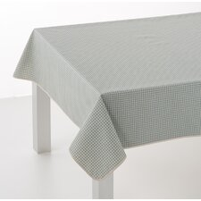 Vintage Gingham Oilcloth Tablecloth