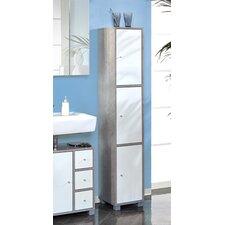 hansen 31 x 167cm mirrored free standing tall bathroom cabinet