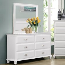 Cape Cod 6 Drawer Dresser with Mirror by Simmons Casegoods