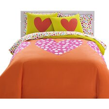 Polka Heart Comforter Set