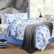 Water Flower 4 Piece Comforter Set