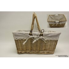Rectangle Willow Picnic Basket with Cloth Lining