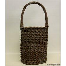 Tall Round Willow Basket