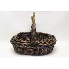 3 Piece Oval Willow Basket Set