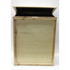 Bamboo Rectangle Hamper with Cloth Lining