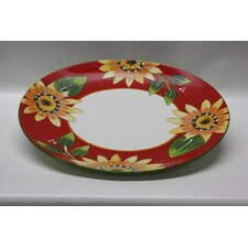 Round Ceramic Serving Tray