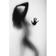 Poster Frau im Schatten, Grafikdruck