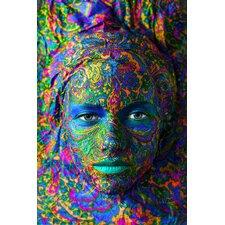 Acrylglasbild Face Painting, Fotodruck